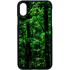 Emerald Forest Apple Iphone X Seamless Case (black) by FunnyCow