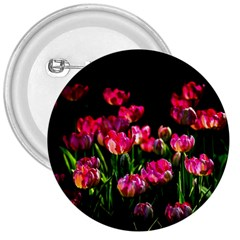 Pink Tulips Dark Background 3  Buttons by FunnyCow