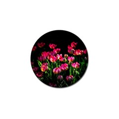 Pink Tulips Dark Background Golf Ball Marker (10 Pack) by FunnyCow