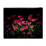 Pink Tulips Dark Background Cosmetic Bag (XL) Back