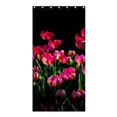 Pink Tulips Dark Background Shower Curtain 36  X 72  (stall)  by FunnyCow