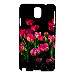 Pink Tulips Dark Background Samsung Galaxy Note 3 N9005 Hardshell Case by FunnyCow