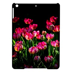 Pink Tulips Dark Background Ipad Air Hardshell Cases by FunnyCow