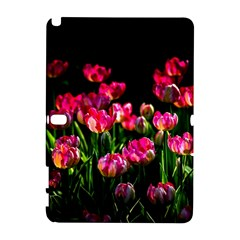Pink Tulips Dark Background Samsung Galaxy Note 10 1 (p600) Hardshell Case by FunnyCow