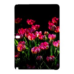 Pink Tulips Dark Background Samsung Galaxy Tab Pro 10 1 Hardshell Case by FunnyCow