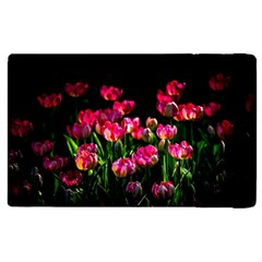 Pink Tulips Dark Background Apple Ipad Pro 12 9   Flip Case by FunnyCow
