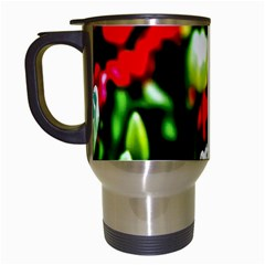 White And Red Sunlit Tulips Travel Mugs (white) by FunnyCow