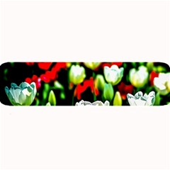 White And Red Sunlit Tulips Large Bar Mats by FunnyCow