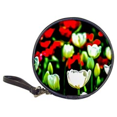 White And Red Sunlit Tulips Classic 20 Cd Wallets by FunnyCow
