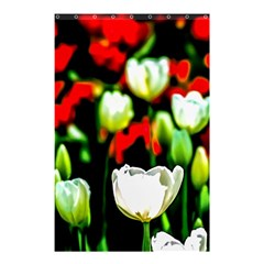 White And Red Sunlit Tulips Shower Curtain 48  X 72  (small)  by FunnyCow