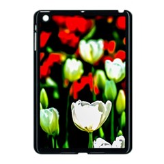 White And Red Sunlit Tulips Apple Ipad Mini Case (black) by FunnyCow