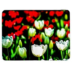 White And Red Sunlit Tulips Samsung Galaxy Tab 7  P1000 Flip Case by FunnyCow