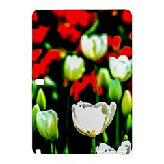 White And Red Sunlit Tulips Samsung Galaxy Tab Pro 10 1 Hardshell Case by FunnyCow