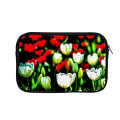 White And Red Sunlit Tulips Apple Macbook Pro 13  Zipper Case by FunnyCow