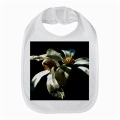 Two White Magnolia Flowers Bib by FunnyCow
