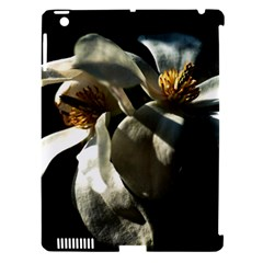 Two White Magnolia Flowers Apple Ipad 3/4 Hardshell Case (compatible With Smart Cover) by FunnyCow