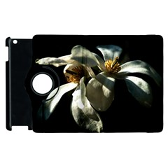 Two White Magnolia Flowers Apple Ipad 3/4 Flip 360 Case by FunnyCow