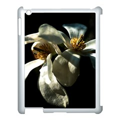 Two White Magnolia Flowers Apple Ipad 3/4 Case (white) by FunnyCow