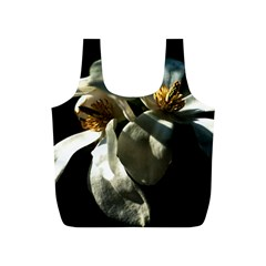 Two White Magnolia Flowers Full Print Recycle Bags (s)