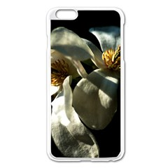 Two White Magnolia Flowers Apple Iphone 6 Plus/6s Plus Enamel White Case by FunnyCow