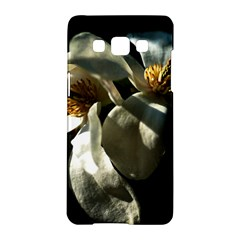 Two White Magnolia Flowers Samsung Galaxy A5 Hardshell Case  by FunnyCow