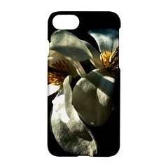 Two White Magnolia Flowers Apple Iphone 8 Hardshell Case by FunnyCow