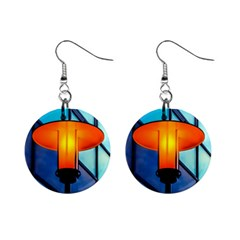 Orange Light Mini Button Earrings by FunnyCow