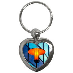 Orange Light Key Chains (heart)  by FunnyCow