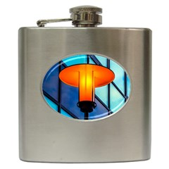 Orange Light Hip Flask (6 Oz) by FunnyCow