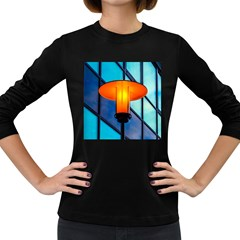 Orange Light Women s Long Sleeve Dark T-shirts by FunnyCow