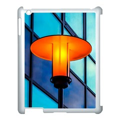 Orange Light Apple Ipad 3/4 Case (white) by FunnyCow