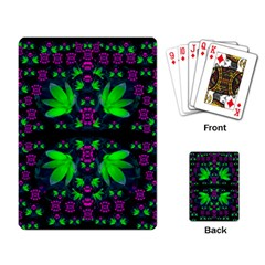Fantasy Flowers In Moonlight Serenades Playing Card