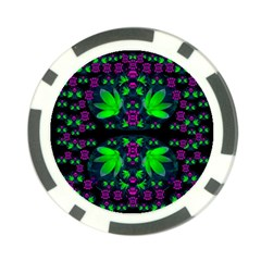 Fantasy Flowers In Moonlight Serenades Poker Chip Card Guard (10 Pack) by pepitasart