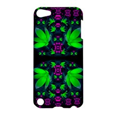 Fantasy Flowers In Moonlight Serenades Apple Ipod Touch 5 Hardshell Case by pepitasart