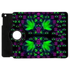 Fantasy Flowers In Moonlight Serenades Apple Ipad Mini Flip 360 Case by pepitasart