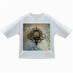 Awesome Creepy Skull With  Wings Infant/toddler T Shirts by FantasyWorld7