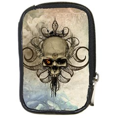 Awesome Creepy Skull With  Wings Compact Camera Cases by FantasyWorld7