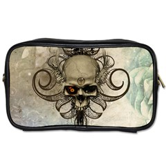 Awesome Creepy Skull With  Wings Toiletries Bags 2-side by FantasyWorld7