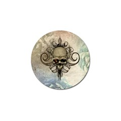 Awesome Creepy Skull With  Wings Golf Ball Marker (10 Pack) by FantasyWorld7