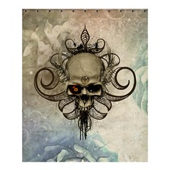 Awesome Creepy Skull With  Wings Shower Curtain 60  X 72  (medium)  by FantasyWorld7