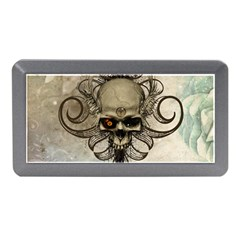 Awesome Creepy Skull With  Wings Memory Card Reader (mini) by FantasyWorld7