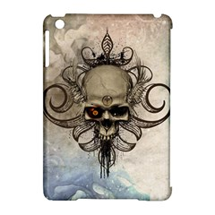 Awesome Creepy Skull With  Wings Apple Ipad Mini Hardshell Case (compatible With Smart Cover) by FantasyWorld7