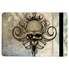 Awesome Creepy Skull With  Wings Ipad Air 2 Flip by FantasyWorld7