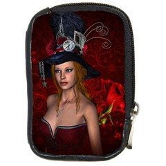 Beautiful Fantasy Women With Floral Elements Compact Camera Cases by FantasyWorld7