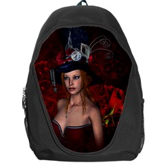 Beautiful Fantasy Women With Floral Elements Backpack Bag by FantasyWorld7