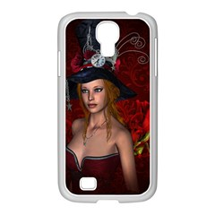 Beautiful Fantasy Women With Floral Elements Samsung Galaxy S4 I9500/ I9505 Case (white) by FantasyWorld7