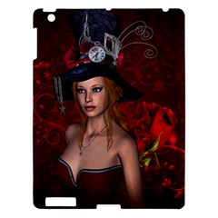 Beautiful Fantasy Women With Floral Elements Apple Ipad 3/4 Hardshell Case by FantasyWorld7
