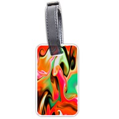 Catch The Waves Smoky Red Orange Haze  Luggage Tags (two Sides) by flipstylezdes