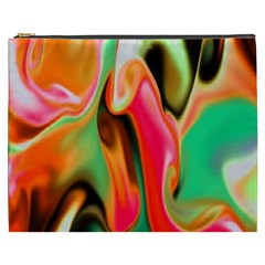 Catch The Waves Smoky Red Orange Haze  Cosmetic Bag (xxxl)