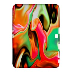 Catch The Waves Smoky Red Orange Haze  Samsung Galaxy Tab 4 (10 1 ) Hardshell Case  by flipstylezdes